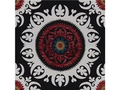 Lee Jofa KISMET SUSANI BLACK 2012110.8 - Lee Jofa New - New York, NY, 2012110.8,Lee Jofa,Chenille,0039,Blue, Red/Burgundy,Red, Blue,Medium Duty,S,Up The Bolt,USA,Ethnic,Upholstery,Yes,Lee Jofa,No,KISMET SUSANI BLACK