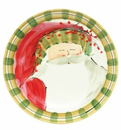VIETRI - Old St. Nick Striped Hat Dinner Plate $59 each Hillsborough NC
