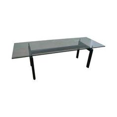 Cassina LC6 Mid Century Glass Top Dining Table