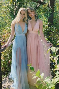 Criss Cross Plunging Neck Prom Dress With Slit, SSM, This dress could be custom made, there are no extra cost to do custom size and color. Cute Prom Dresses, Junior Bridesmaid Dresses, Pretty Dresses, Girls Dresses, Flower Girl Dresses, Formal Dresses, Bandage Dresses, Dresses Dresses, Criss Cross