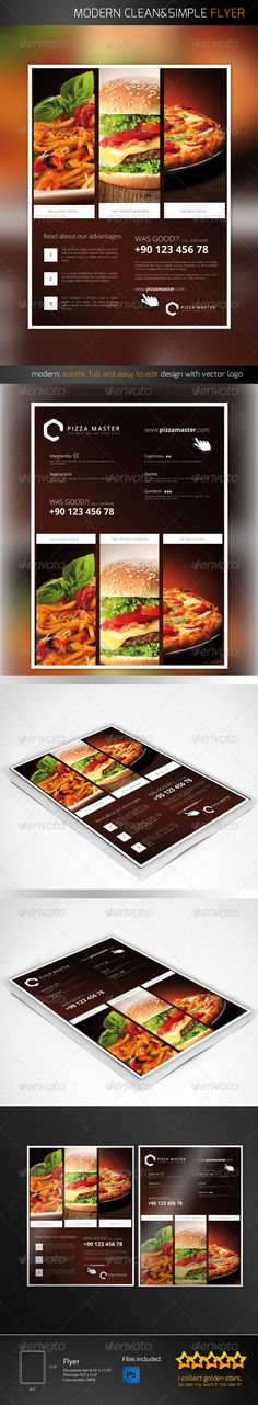 Flyer For Restaurand Or Fast Food