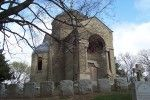 Milwaukee: Calvary Cemetery Chapel. Designed by Erhard Brielmaier, this Cream City brick, Romanesque chapel built in 1899 on one of Milwaukee's highest elevations was intended for services, prayer, private contemplation, and also as a mausoleum for clergy. #Milwaukee #history