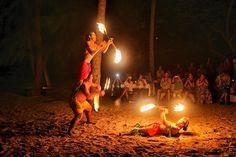 Tahiti fire dancers - Windstar