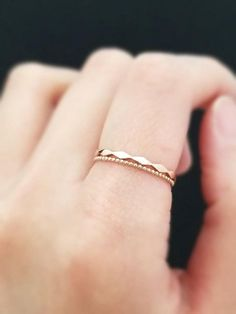 ART DECO real gold Ring thin gold band, Milgrain simple modern Stacking ring, white gold, rose gold dainty minimalist ring gift for her Diamond Wedding Rings, Bridal Rings, Diamond Bands, Gold Bands, Gold Band Ring, Wedding Band, Silver Ring, Vintage Engagement Rings, Vintage Rings