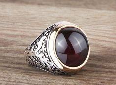 925K Sterling Silver Gemstone Man Ring With Tourmaline Stone(All Sizes) #IstanbulJewellery #Statement