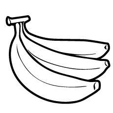 Three Bananas Coloring Page Lembar Mewarnai Buah Warna