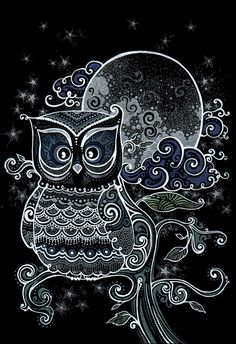 Black and White Line-Art Owl Owl Wallpaper, Animal Wallpaper, Composition Photo, Owl Pictures, Owl Always Love You, Beautiful Owl, Owl Bird, Cute Owl, Doodle Art