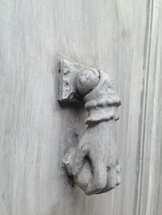 grey door knocker