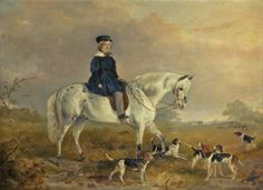 William Philip Lord Molyneux, as a Boy (later 4th Earl of Sefton) by Richard Ansdell ~ 1840, oil on panel