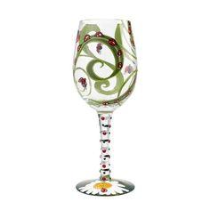 Wine Glass Ladybug