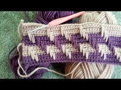 Knitted Afghans, Crochet Blanket Patterns, Knitted Blankets, Baby Blanket Crochet, Baby Knitting Patterns, Crochet Stitches, Knitted Hats, Crochet Home Decor, Cross Stitch Art