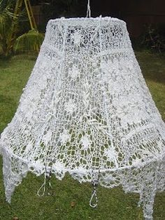 Sallygoodin: Square Cotton Vintage Doily Lamp Shade Cover Best Picture For Diy Lamp Shade wire For Y Doily Lamp, Lace Lampshade, Cover Lampshade, Crochet Lampshade, Doilies Crafts, Lace Doilies, Lamp Cover, Diy Chandelier, Chandeliers