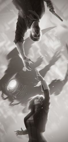 Bioshock Infinite: Booker & Elizabeth - Created by Alex Charleux You can follow the artist on Tumblr and Twitter.