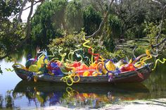 Chihuly boat  Fairchild Tropical Garden