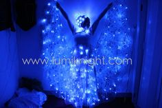 LUMI-LED-00093-1/LED light-up costumes/ LED illuminated dress/luminous costumes pas de blue_LUMIKNIGHT ARTS COSTUMES TECHNOLOGY CO., LIMITED
