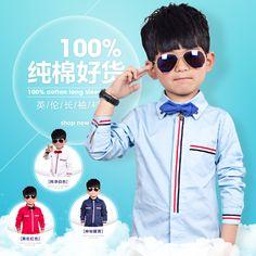 Новые 2015 относятся детская одежда Детская белый Англии детские рубашки мальчиков длинный рукав рубашки детей студентов в красивый