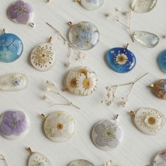 Handmade resin jewelry - nature inspired jewelry - by Floral Joy