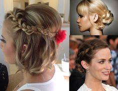 Penteados com trança para cabelos curtos e médios
