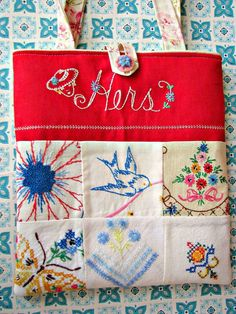 Embroidery On Crochet it is Embroidery Designs Dogs, Embroidery Library Login like Embroidery Stitches For Trees little Embroidery Patterns Step By Step Embroidery Transfers, Embroidery Patterns, Hand Embroidery, Bag Patterns, Embroidery Stitches, Fabric Crafts, Sewing Crafts, Sewing Projects, Sewing Ideas