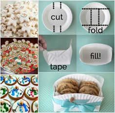 Cookies and Paper Plate Cookie Holder
