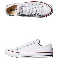 Converse Womens Chuck Taylor All Star Lo Shoe (1.005.840 IDR) ❤ liked on Polyvore featuring shoes, sneakers, converse, footwear, white, womens footwear, white shoes, low top, converse trainers and grip shoes