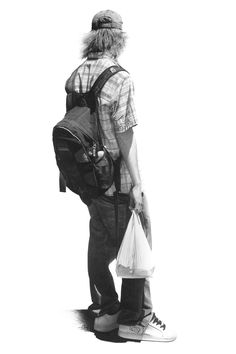 Vancouver artist Brian Boulton captures singular moments of everyday life in his detailed drawings of anonymous subjects. Based on digital photos, these solitary figures face away from the viewer and Graphite Art, Graphite Drawings, Art Drawings, Charcoal Drawings, Figure Sketching, Figure Drawing, Painting & Drawing, Drawing Drawing, Drawing Ideas