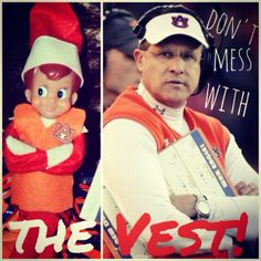 Don't Mess with the Vest - Gus #ElfontheShelf #GusBus #WarEagle