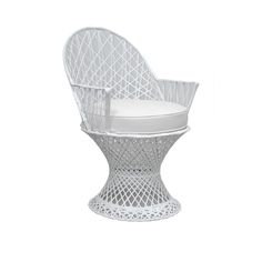 Pair of White Fiberglass Chairs @ Pieces