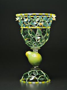 """Kari Russell-Pool, """"Pear Trophy"""", lamp-worked glass"""