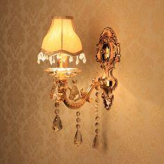 Grátis frete Multithread moda cristal lâmpada de parede breve vela lâmpada de parede lâmpada de parede de cabeceira corredor lâmpada de parede(China (Mainland))