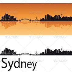 Buy Sydney Skyline in Orange Background by paulrommer on GraphicRiver. Sydney skyline in orange background in editable vector file Orange Background, Background Vintage, Background Patterns, Textured Background, Skyline Silhouette, Silhouette Art, Background Drawing, Watercolor Background, Skyline Tattoo