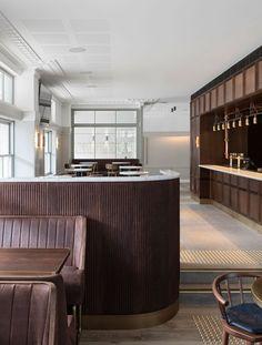 Buena Vista Hotel in Mosman, Australia by SJB Interiors & Tess Regan Design. Module Design, Design Café, Cafe Design, Design Trends, Design Ideas, Architecture Restaurant, Interior Architecture, Hotel Restaurant, Restaurant Design