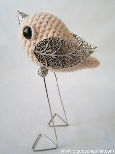 sevimli oyuncaklar dolls: Amigurumi Kuş - Amigurumi Bird
