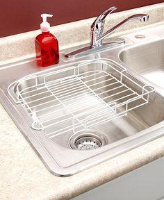 Dish Rack Expandable White Sink Racks Dish Drying Rack Kitchen