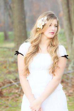 bridal headband wedding accessories woodland by serenitycrystal, $45.00
