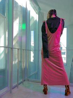 NOYB Velvet Embroidery Dress #velvet #dress #embroidery # slip #lowback #backdetail