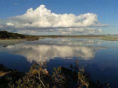 Hermanus lagoon -so peaceful after breaking its banks