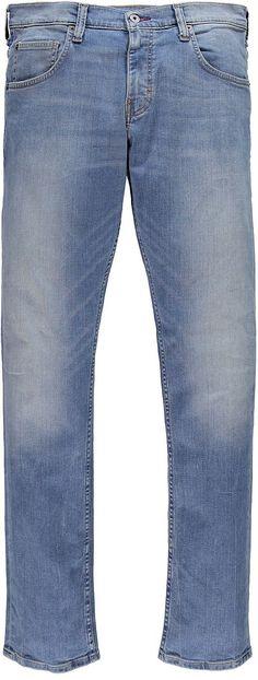 Bequem geschnittene Jeans, mit einer etwas höheren Leibhöhe und ist im Beinverlauf eingestellt. Sie hat aufgesetzte Gesäßtaschen und einen Reißverschluss. Der Denim hat eine schöne, weiche Qualität mit klassischen Used-Effekten. 88 % Baumwolle, 10 % Polyester, 2 % Elasthan...