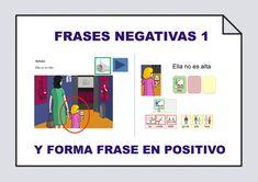 Presentación interactiva para trabajar la comprensión de frases en negativo y su reformulación a frases en positivo.