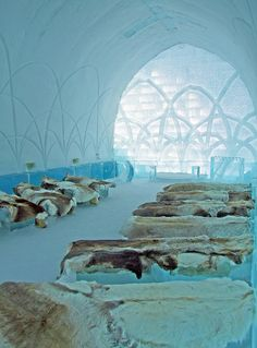 Ice Church at Ice Hotel, Sweden.