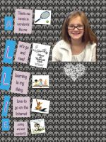 Creating acrostic poems in PicCollage for iPad with 3rd grade.