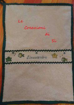 Asciughino realizzato per Veronica -Ossi (SS) -  Visita la mia pagina facebook Le Creazioni di Sì