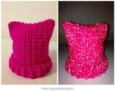 A hat made of reflective yarn