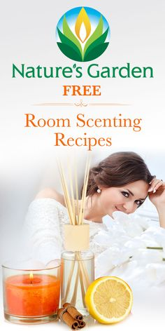 Free Room Scenting Recipes from Natures Garden. Make your home smell good. #roomscenting
