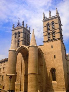 Amazing Saint Peter's Cathedral in Montpellier in the South of France