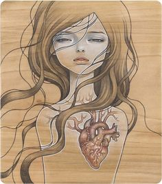My Dishonest Heart by Audrey Kawasaki - Contemporary Japanese Art Collection by Jean Pigozzi