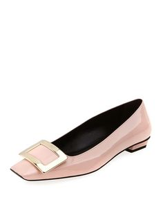 Belle Vivier Patent Ballerina Flat, Pink by Roger Vivier at Neiman Marcus.