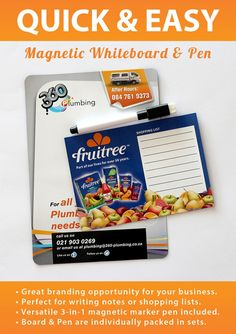 Magnetic Whiteboard & Pen - A great branding opportunity for your brand!