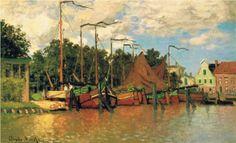 Boats at Zaandam - Claude Monet