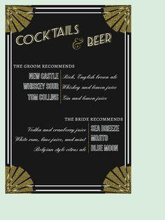 Gatsby Art Deco Wedding Signs // Wedding Signage by blacklabstudio